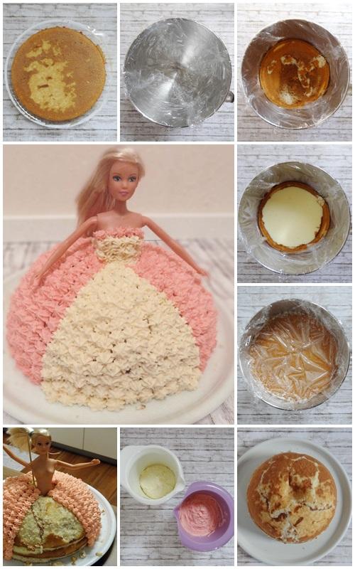 Rezept Prinzessin Barbie Torte