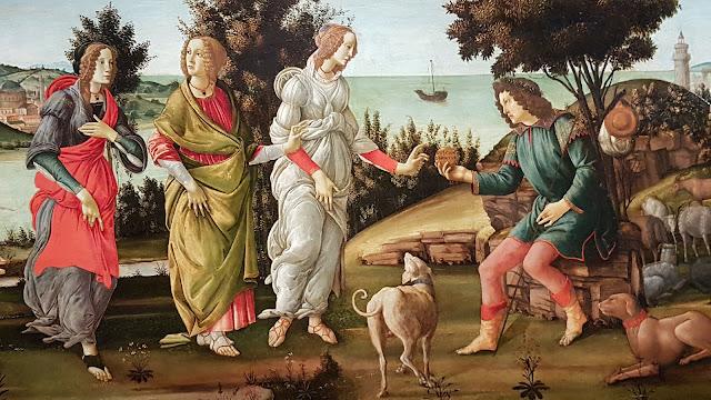 Le Jugement de Pâris, Botticelli 1485 Fondation Cini , Venise