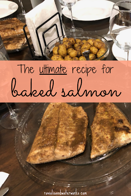 baked salmon with italian dressing; quick fish recipe; quick salmon recipe; easy salmon recipe; italian salmon recipe, italian salmon; last minute meal ideas