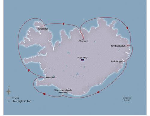 Ocean cruise around Iceland (Source: Viking Cruises)