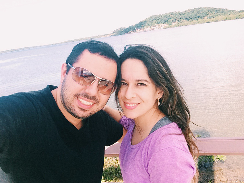 Selfie no Portal do Mar em Joinville