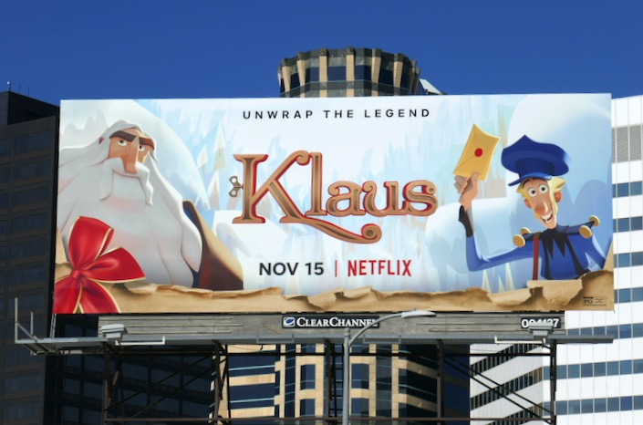 Klaus Netflix movie billboard