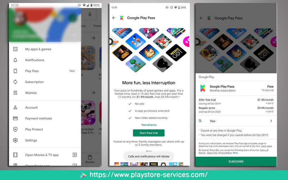 كيف يمكنني الاشتراك في خدمة Google Play Pass؟