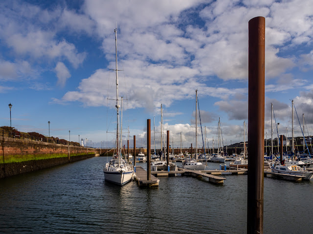 Photo of the same view of Maryport Marina on Monday morning