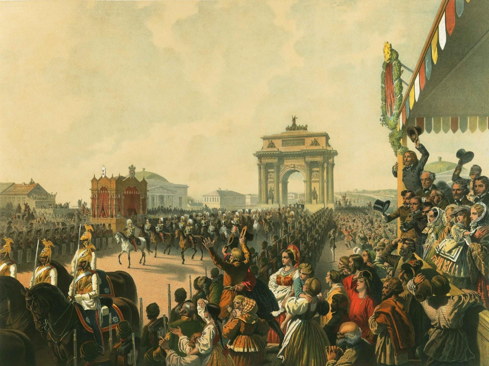 Михай Зичи Вступительное шествие Александра II