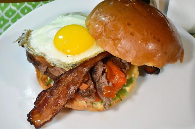 Chivito Sandwich.