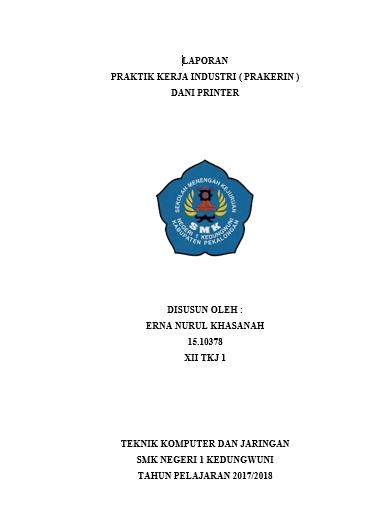 Contoh Laporan Pkl Tkj : contoh, laporan, Contoh, Laporan, Prakerin, Jurusan, LENGKAP, Erna's