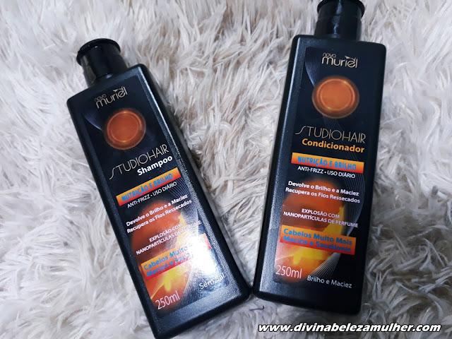 Shampoo e Condicionador Studio Hair Nutrição e Força Nova Muriel