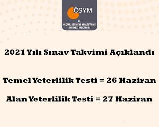 2021-YKS-Sınav-Takvimi