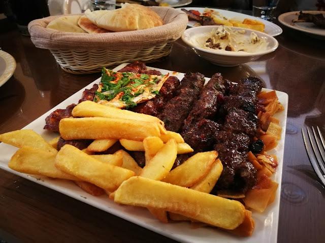 Kebab Platter at Ayam Zamam, Kuwait