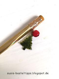 weihnachtlicher stifte anhänger charm mit stampin up stanze nadelbaum produktpaket tannen und karos  weihnachtsbaum christbaum tannenbaum schelle gloeckchen geschenk mitbringsel gold gruen produkte bestellen in coburg demonstratorin