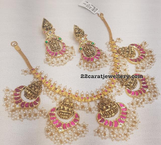 Round Pearls Lakshmi Guttapusalu