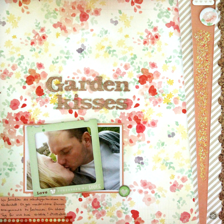 Garden Kisses | Scrapbooking Layout