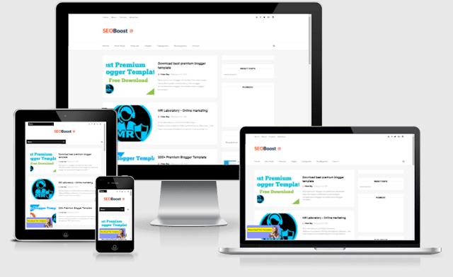 SEO Boost Premium Blogger Template