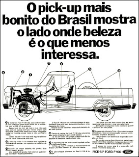 propaganda pick-up Ford F-100 - 1972, Ford Willys anos 70, pick-up antigo Ford, década de 70, anos 70, Oswaldo Hernandez,