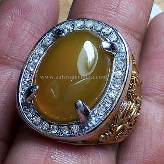 Cincin Batu Yellow Chalcedony - ZP 669