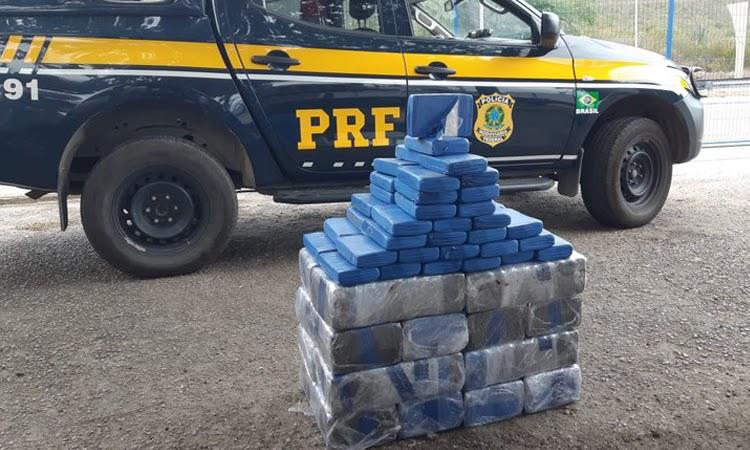 PRF apreendeu cloridrato de cocaína avaliado em R$ 34 milhões na BR-116, em Jaguaquara