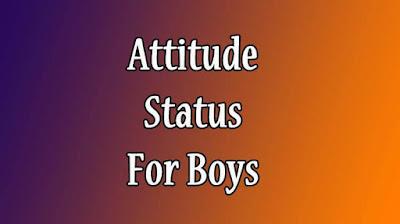 Attitude Status For Boys in English