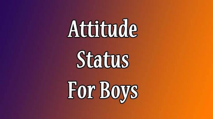 91 Attitude Status For Boys For Whatsapp In English [2020]