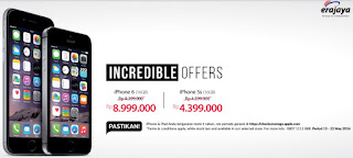 Promo Harga Spesial iPhone di Erafone, iPhone 5s Rp 4.399.000 (16 GB) dan iPhone 6 Rp 8.999.000 (16 GB)