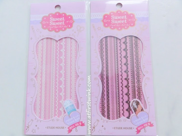 Etude House sweet sweet lace nail stickers