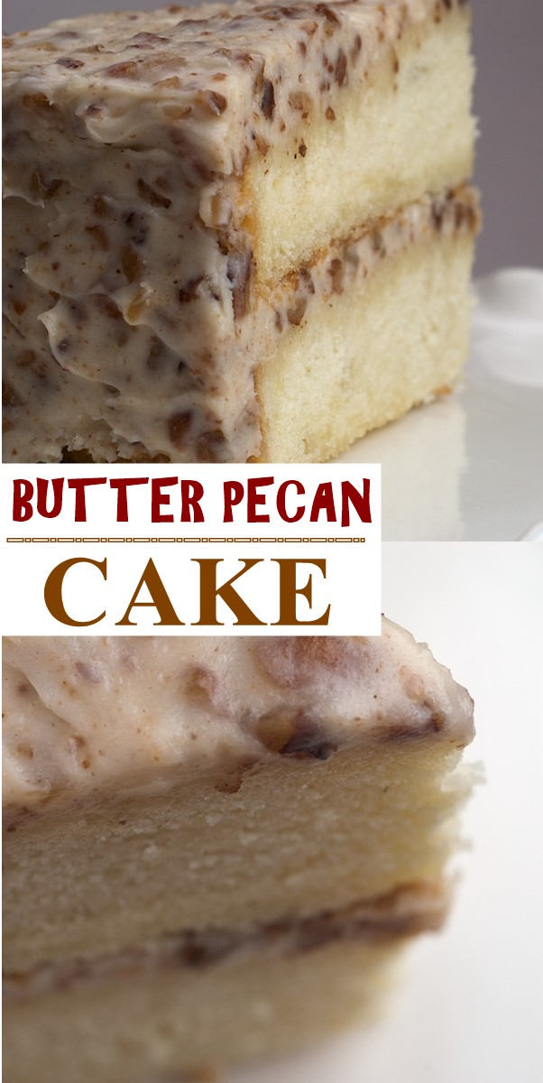 BUTTER PECAN CAKE #cakerecipes
