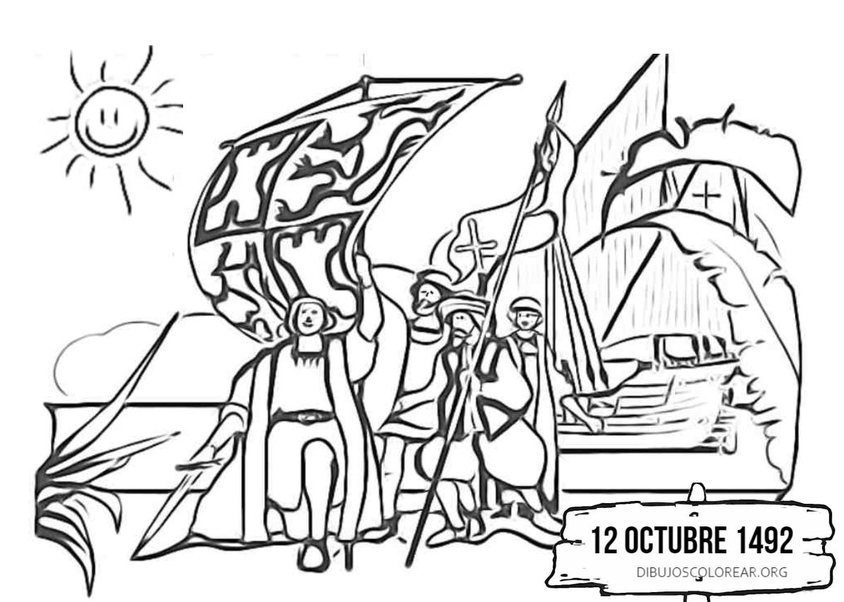 Día De La Raza Archivos Dibujos Colorear