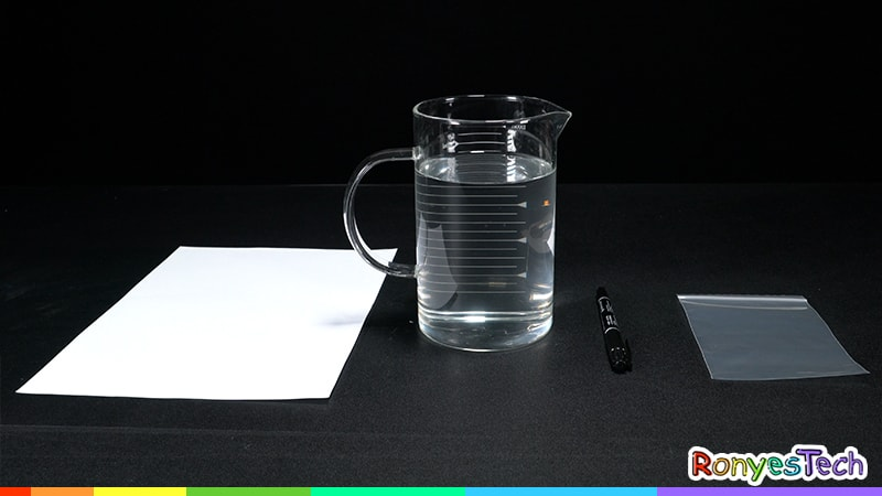 Zip Lock Bag Water Refraction - Halloween Activity Materials List