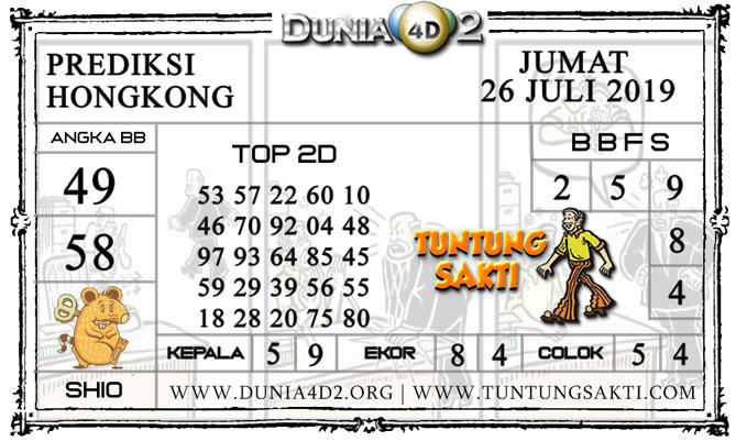 """Prediksi Togel """"HONGKONG"""" DUNIA4D2 26 JULI 2019"""