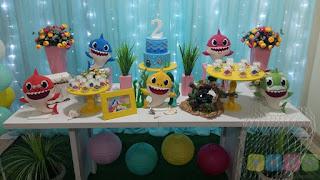 Decoração festa infantil Baby Shark