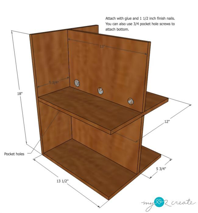 DVD storage drawers step 4