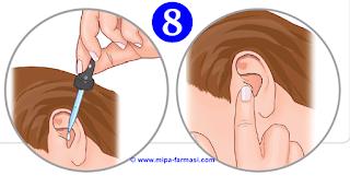 Cara Menggunakan tetes telinga yang benar