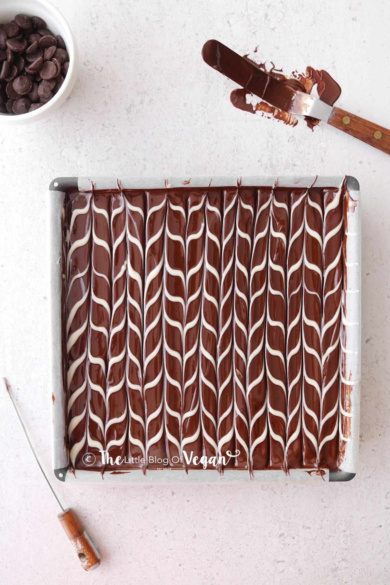 White and Dark chocolate swirl