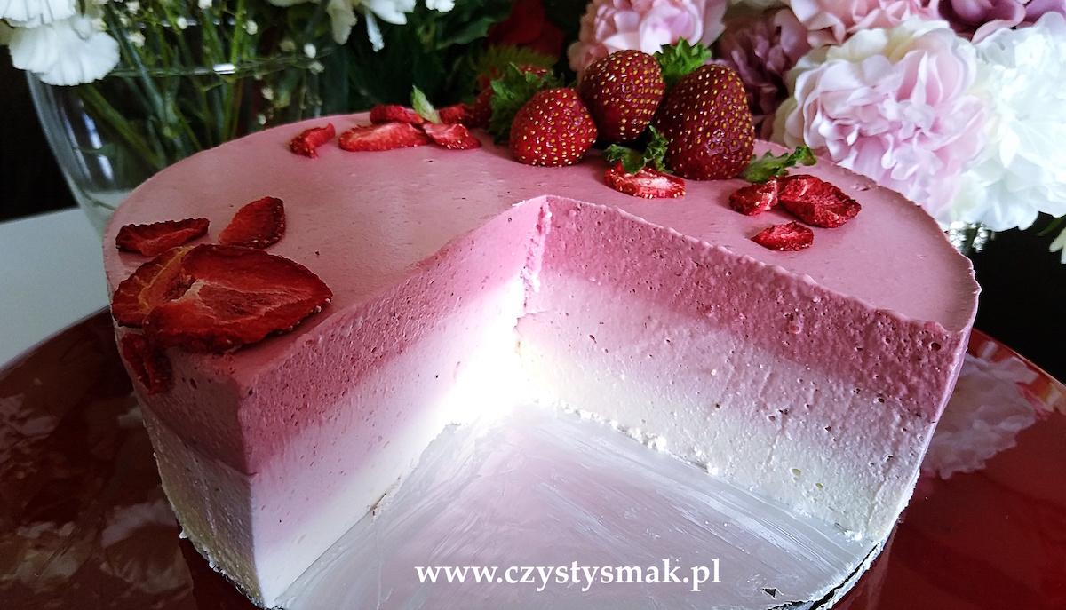 Ciasto ombre truskawkowe