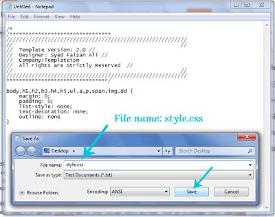 mempersiapkan file CSS