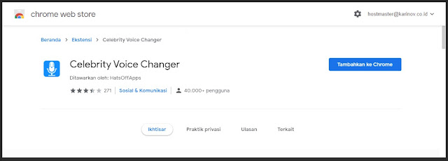 instal ekstensi voice changer di chrome