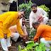 आरएसएस व भाजपा पदाधिकारियों ने किया पौधरोपण