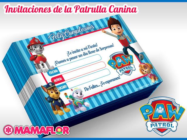Tarjeta de Cumpleaños de PAW PATROL para imprimir