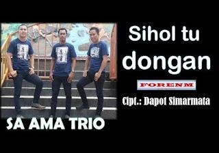 Lirik Lagu Sa ama Trio - Sihol Tu Dongan