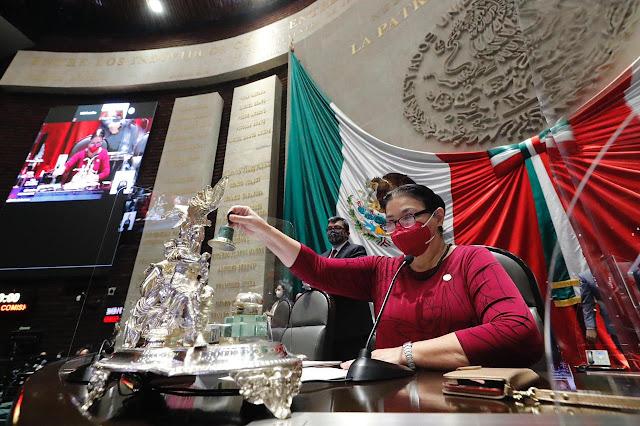 La diputada Dulce María Sauri clausuró los trabajos de la Comisión Permanente del Congreso de la Unión