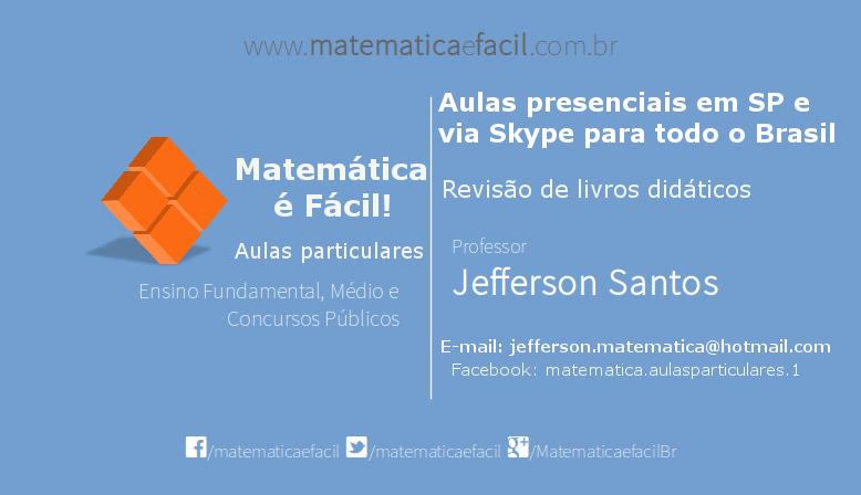 2º Aulão de Matemática para Concursos Públicos em SP