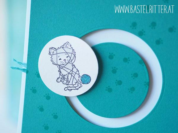 Pretty Kitty Himmelsstuermer Kullerkarte Stampin' up! Bastelritter