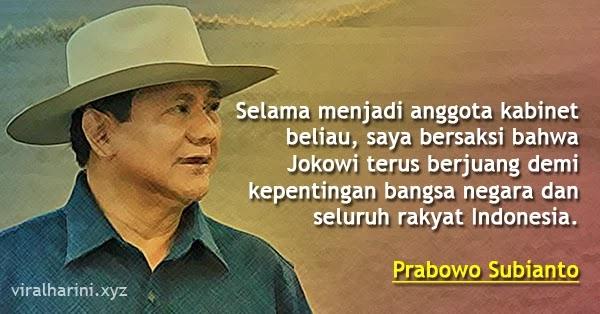Kesaksian Seorang Prabowo Terhadap Jokowi