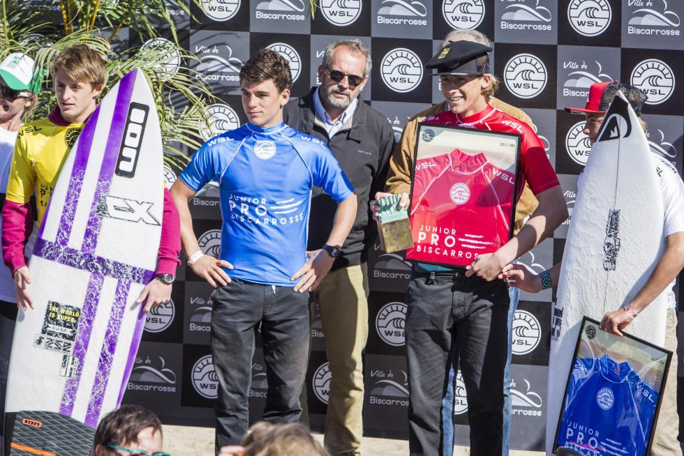 1 men podium Junior Pro Biscarrosse Foto WSL Damien Poullenot