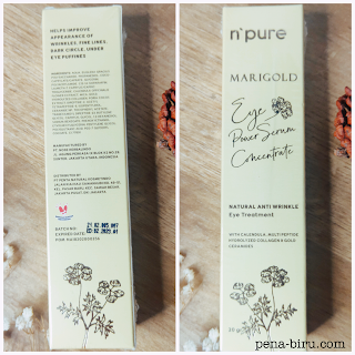 Ingredients NPURE Marigold Eye Power Serum Concentrate