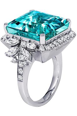 Alexander Laut Fine Jewelry-Alexander Laut Fine Jewelry turquoise aquamarine diamond ring #brilliantluxury