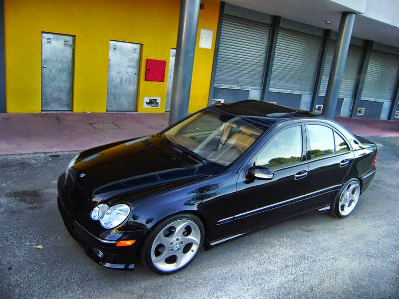 mercedes benz c class w203 on slr wheels benztuning. Black Bedroom Furniture Sets. Home Design Ideas