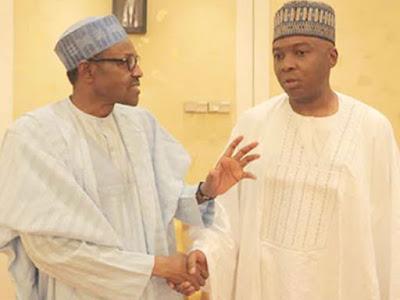 Buhari Begs Saraki: Don't Dump APC... Oshiomhole spends hours in Saraki's house