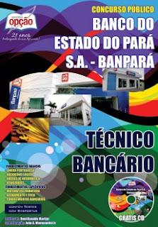 apostila concurso público banpará/pa 2016 pdf