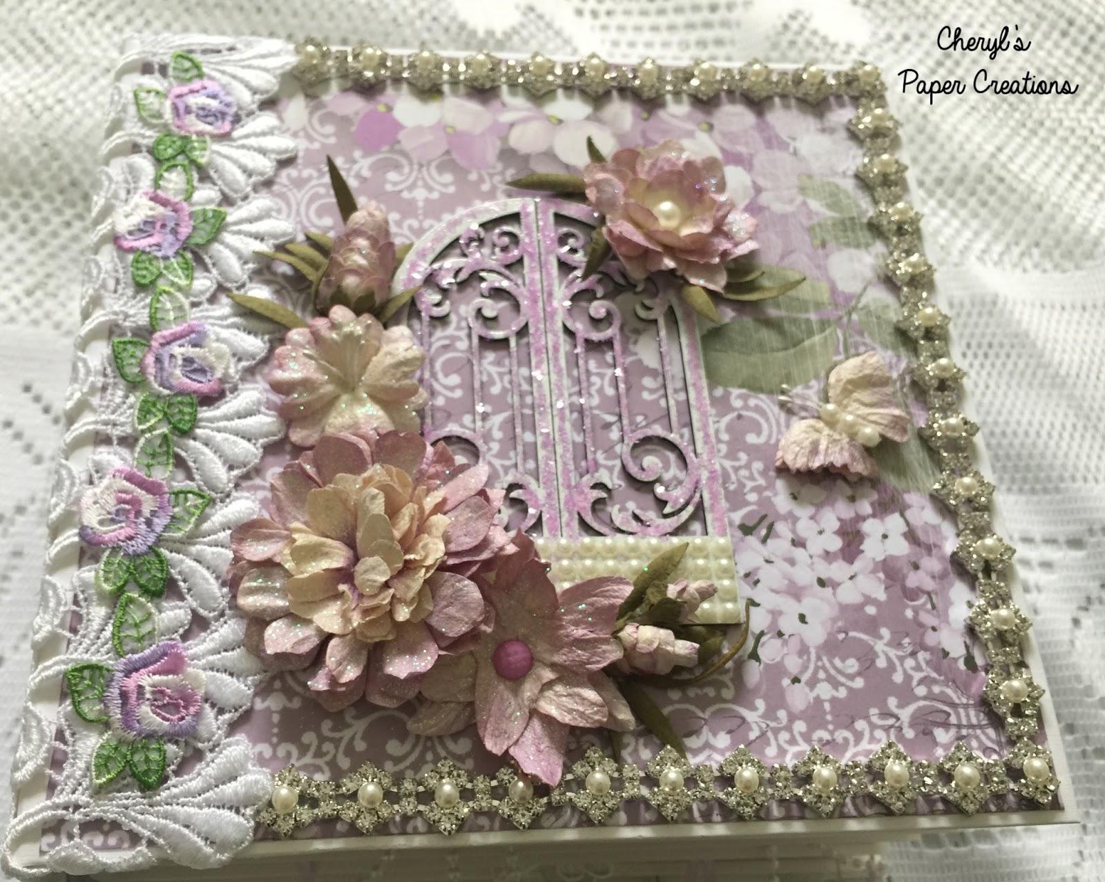 Cheryl S Paper Creations Scrapmir S Purple Hydrangea Mini Album